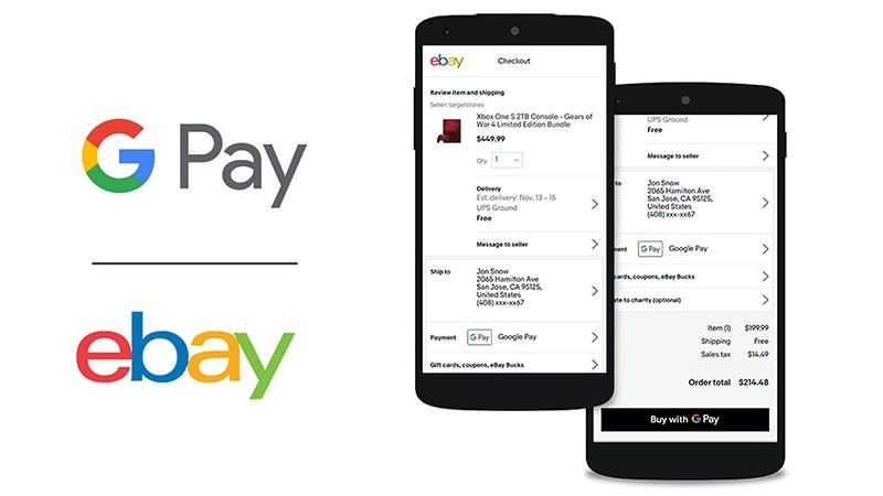 eBay تضيف دعم خدمة الدفع الالكتروني قوقل باي لتطبيق الأندرويد والويب وسطح المكتب