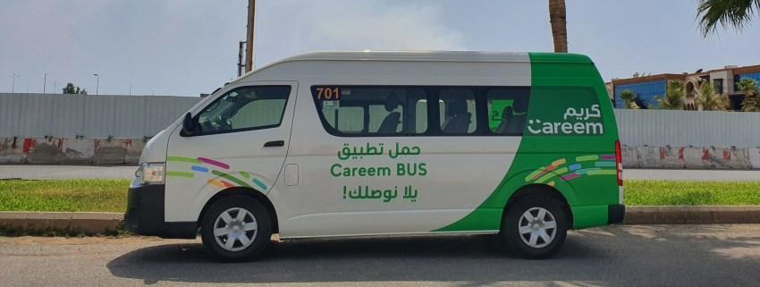 كريم تطلق خدمة النقل بالحافلات الصغيرة في جدة بتسعيرة تتراوح من 3 إلى 5 ريال