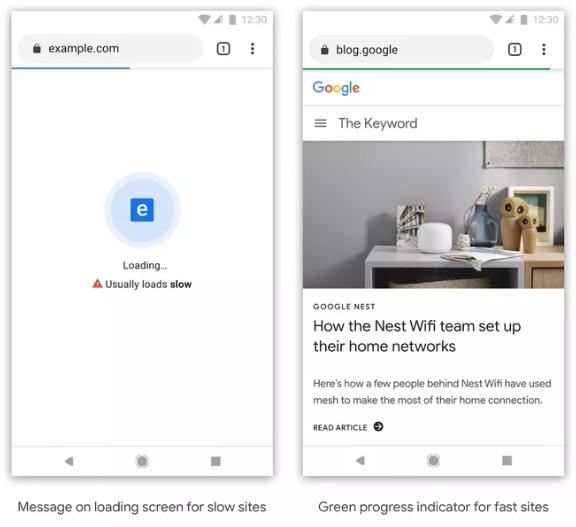 جوجل ستميز المواقع البطيئة بأيقونة خاصة على متصفح كروم