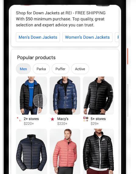جوجل تحسّن البحث عن الملابس للتسوق عبر محرك البحث