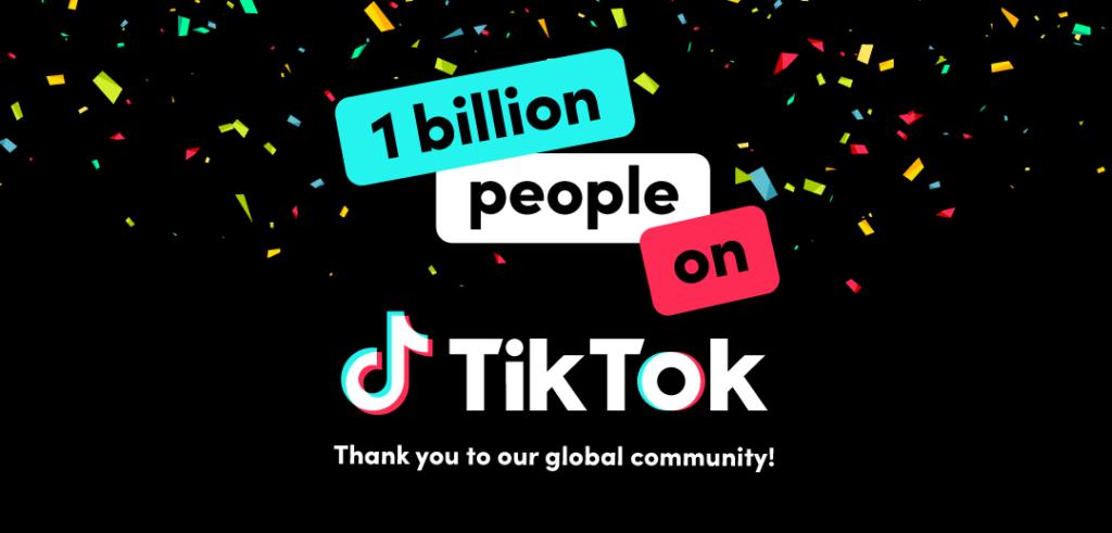 تيك توك يتخطي مليار مستخدم نشط شهريًا